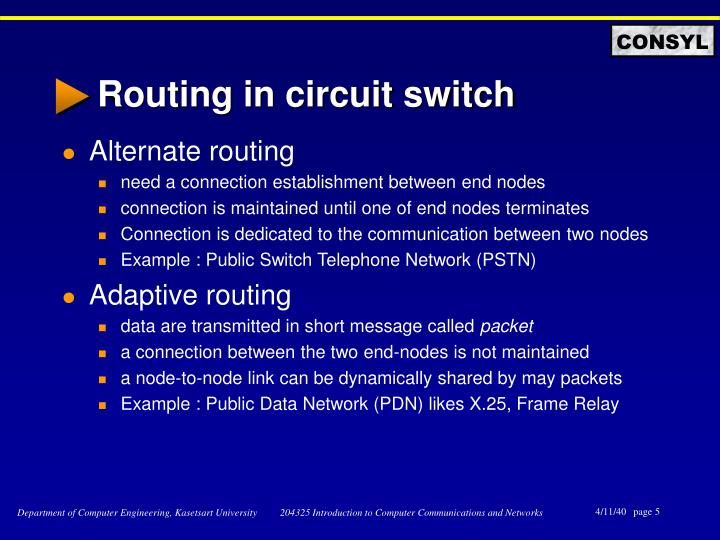 Routing in circuit switch