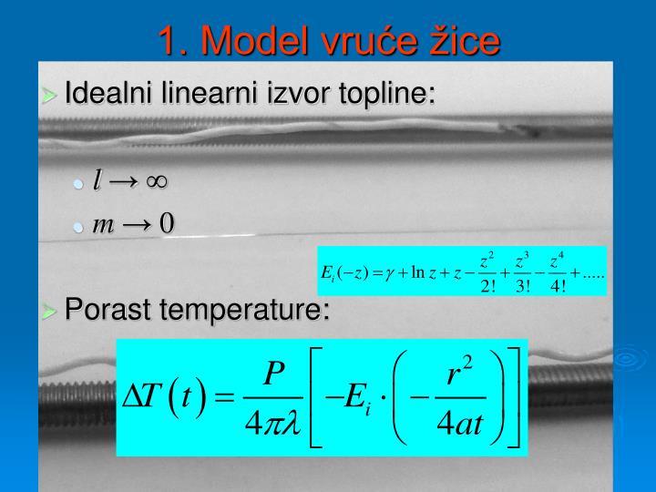 1. Model vruće žice
