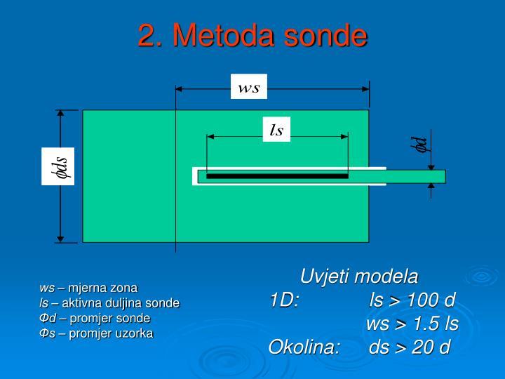 2. Metoda sonde
