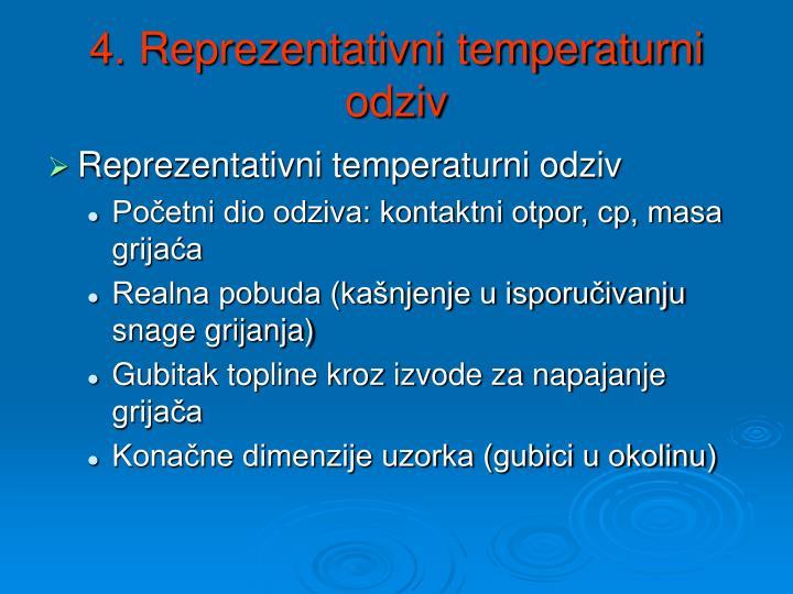 4. Reprezentativni temperaturni odziv