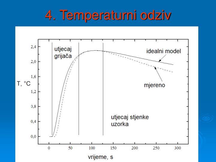 4. Temperaturni odziv