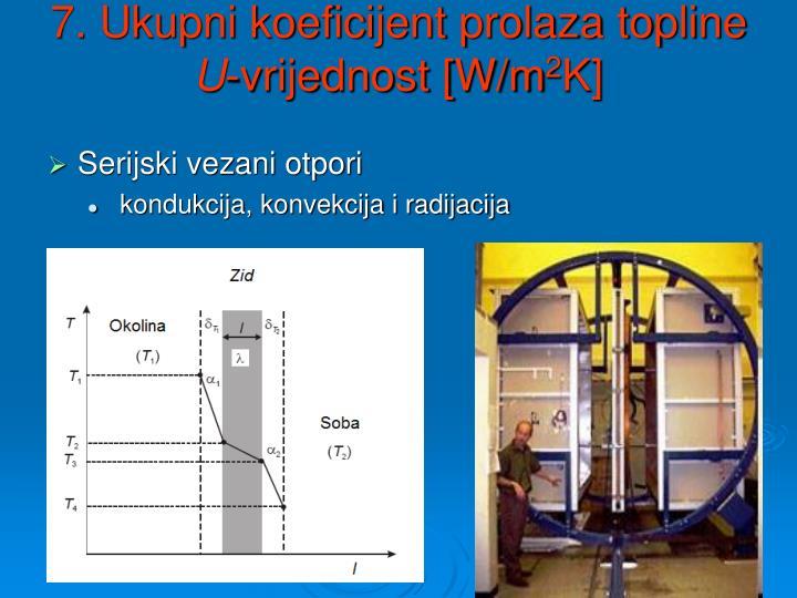7. Ukupni koeficijent prolaza topline