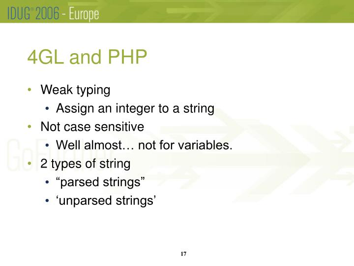 4GL and PHP