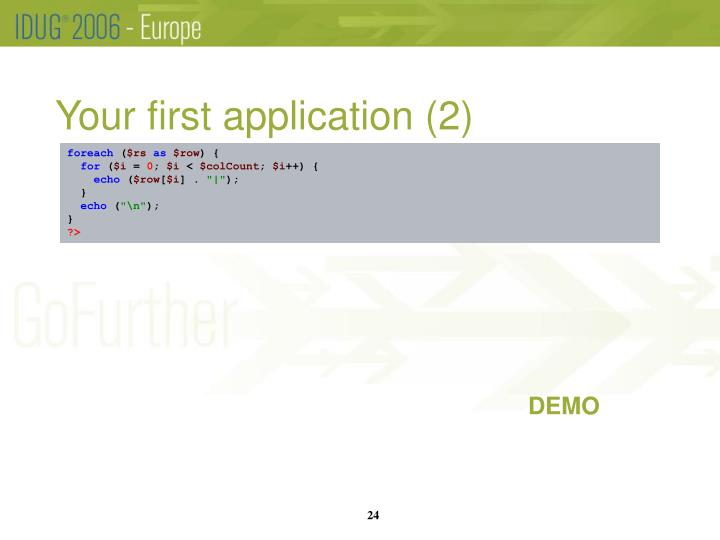 Your first application (2)