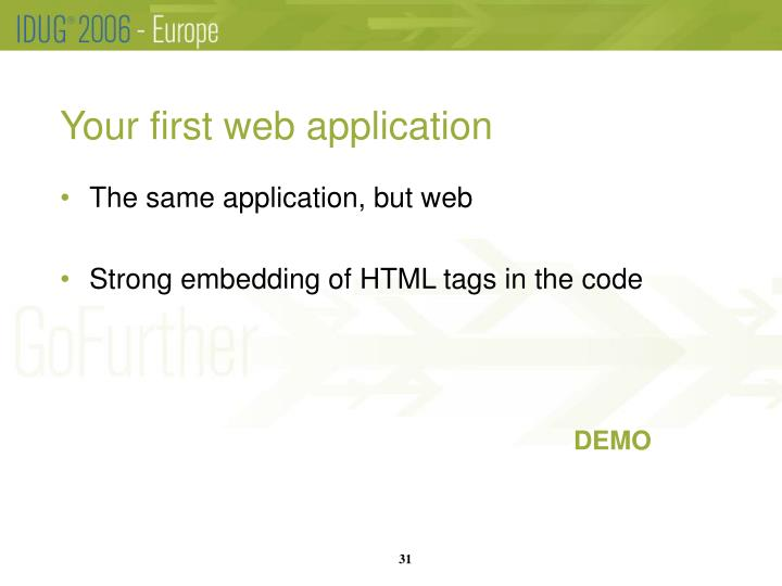 Your first web application
