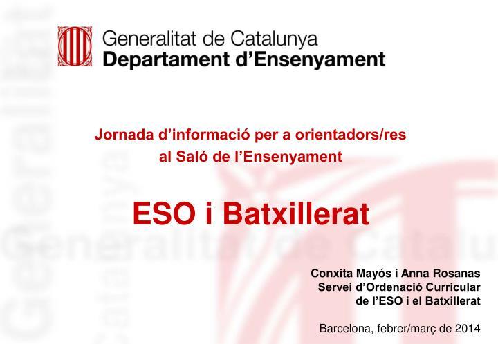 Jornada d'informació per a orientadors/res