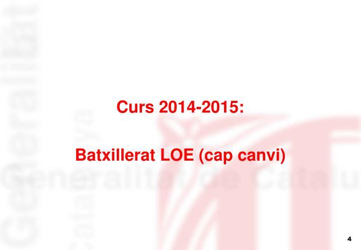 Curs 2014-2015: