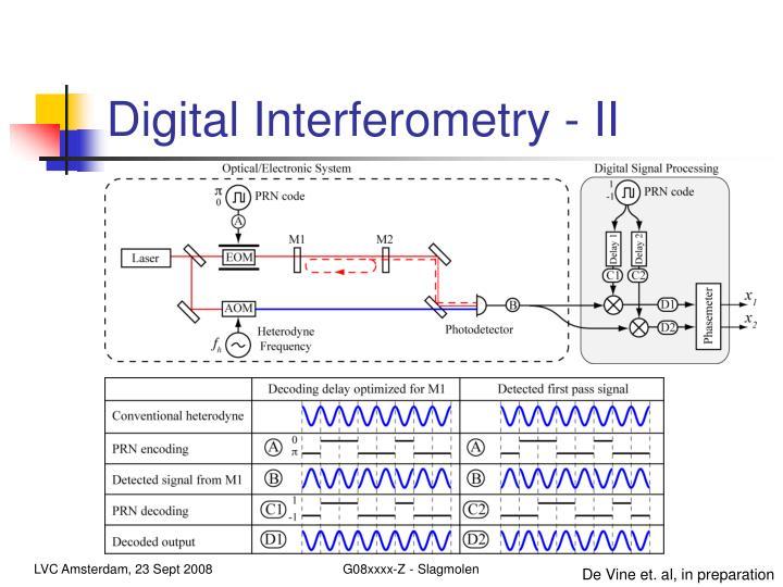 Digital Interferometry - II