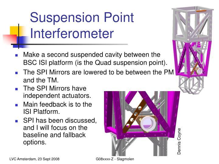 Suspension Point Interferometer