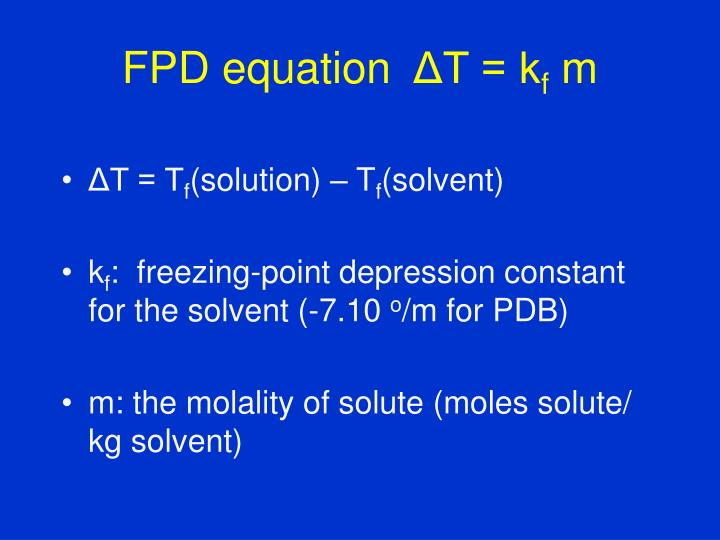 FPD equation