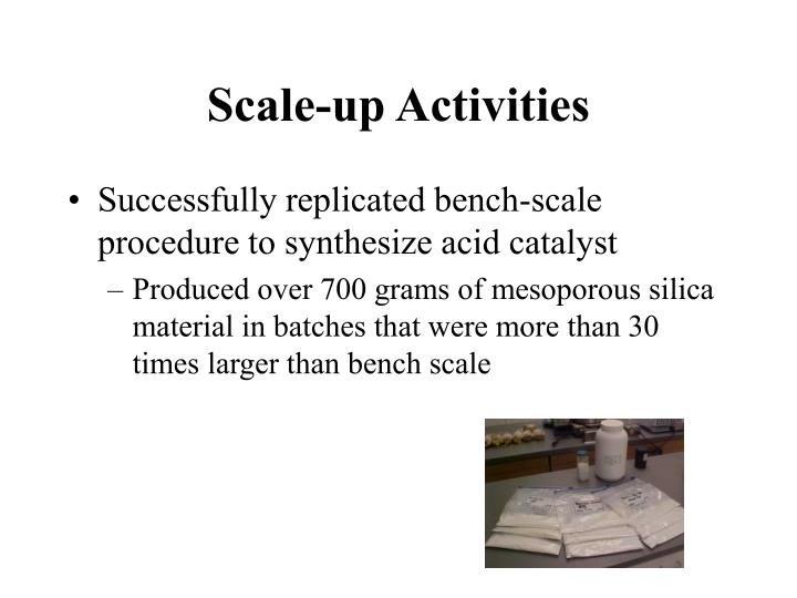 Scale-up Activities