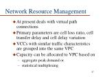 network resource management