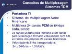 conceitos de multiplexagem sistemas tdm