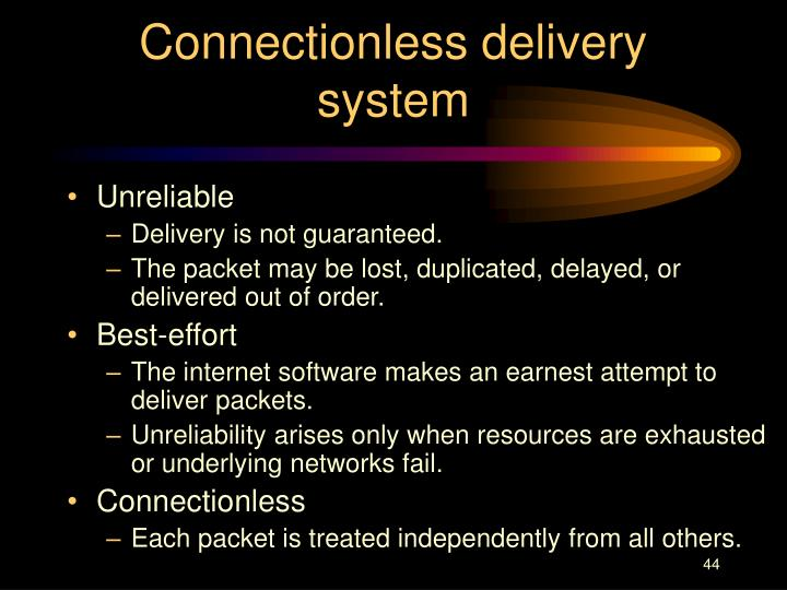 Connectionless delivery system