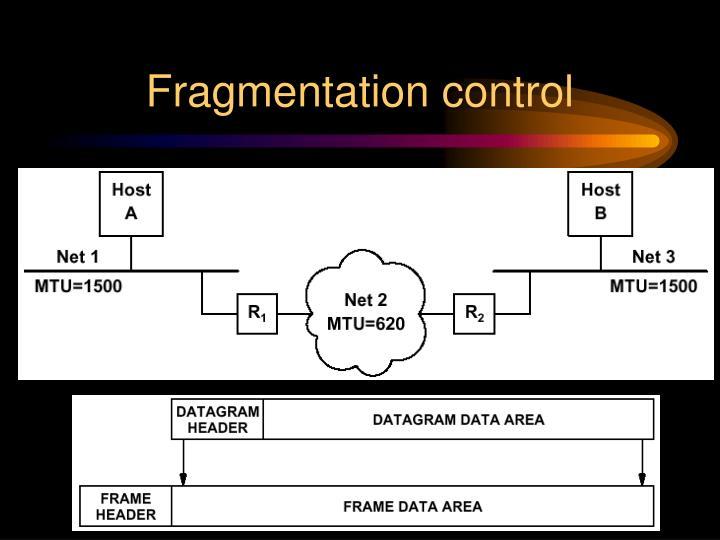 Fragmentation control