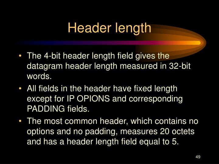 Header length