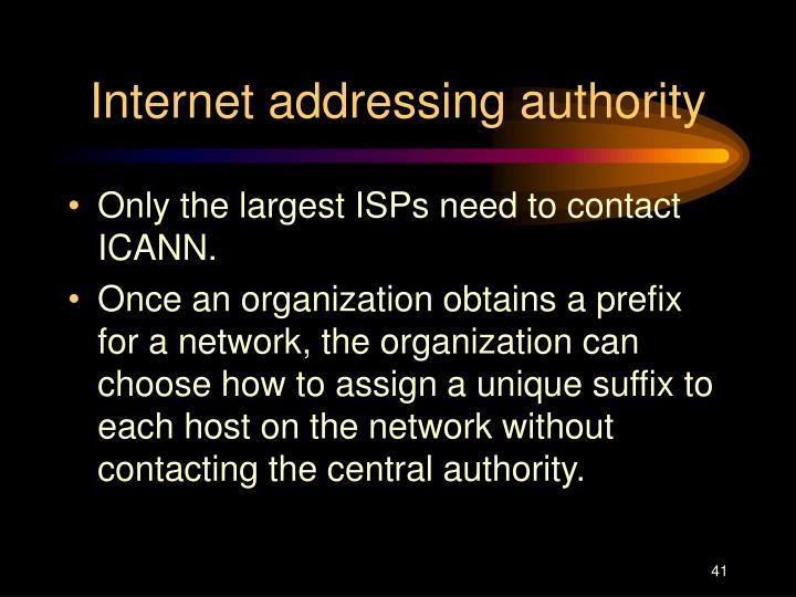 Internet addressing authority