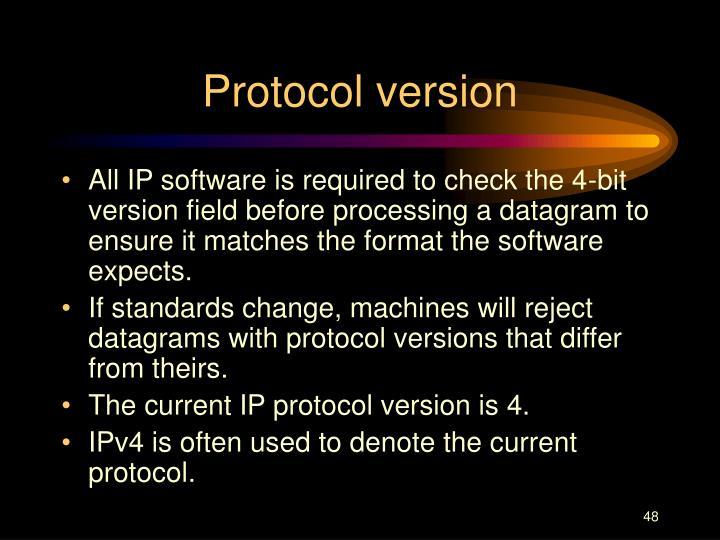 Protocol version