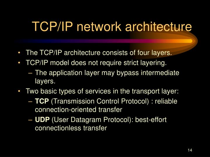 TCP/IP network architecture