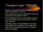 transport layer tcp upd