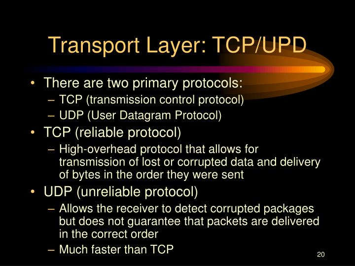 Transport Layer: TCP/UPD
