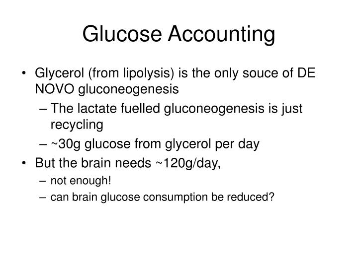 Glucose Accounting