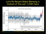let s put recent global warming in context of the last 1 000 years