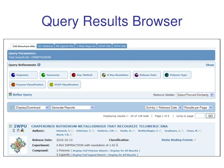 Query Results Browser