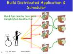 build distributed application scheduler