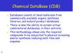 chemical database cdb