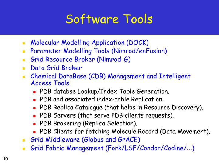 Software Tools