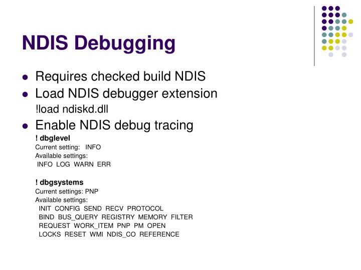 NDIS Debugging
