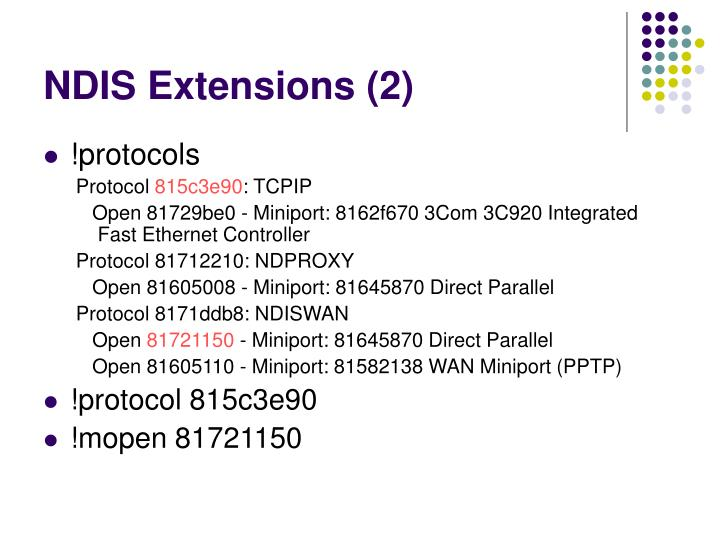 NDIS Extensions (2)