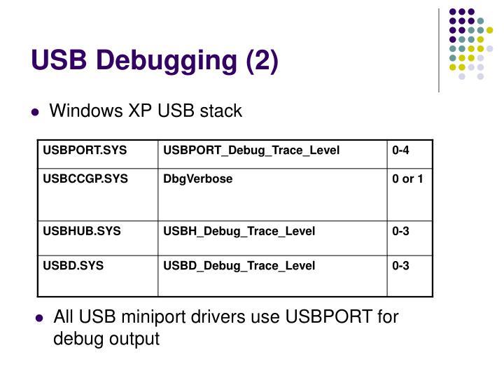USB Debugging (2)