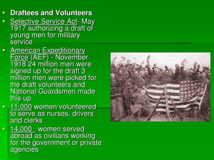Draftees and Volunteers