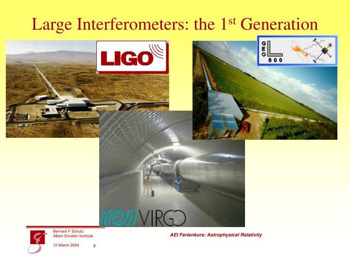Large Interferometers: the 1