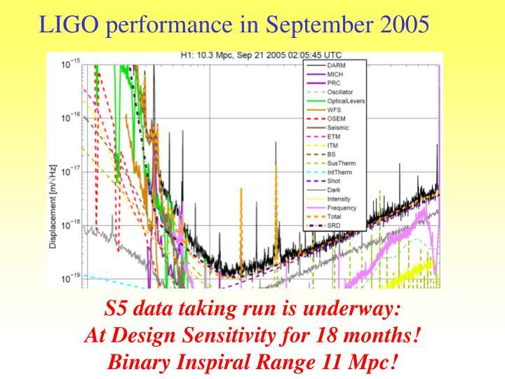 LIGO performance in September 2005