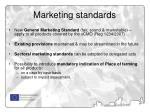 marketing standards