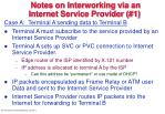 notes on interworking via an internet service provider 1