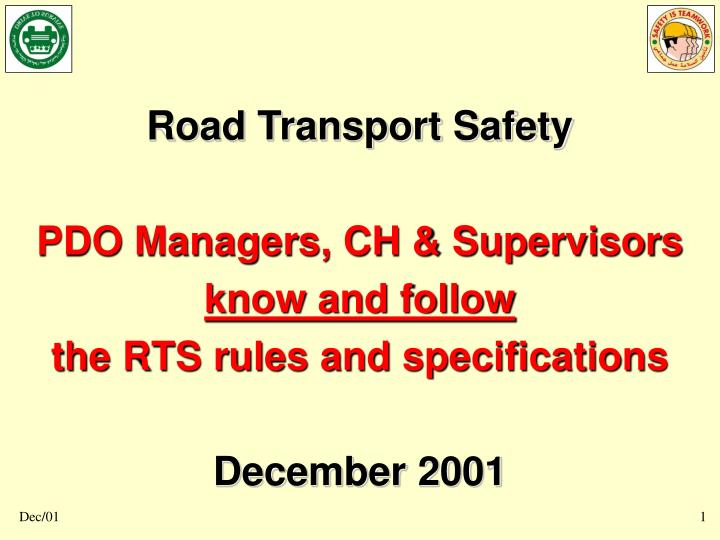 Road Transport Safety
