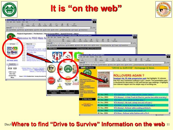 "It is ""on the web"""