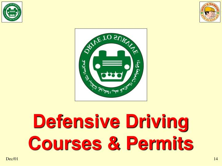 Defensive Driving Courses & Permits