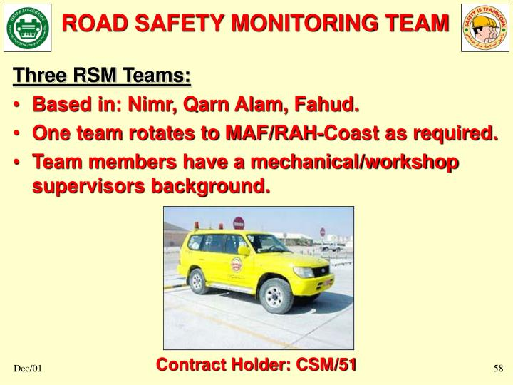 ROAD SAFETY MONITORING TEAM
