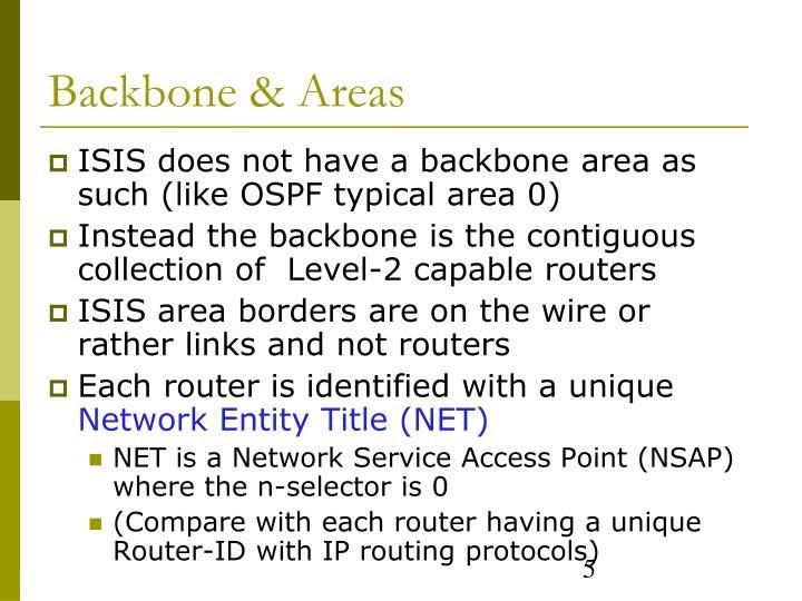 Backbone & Areas