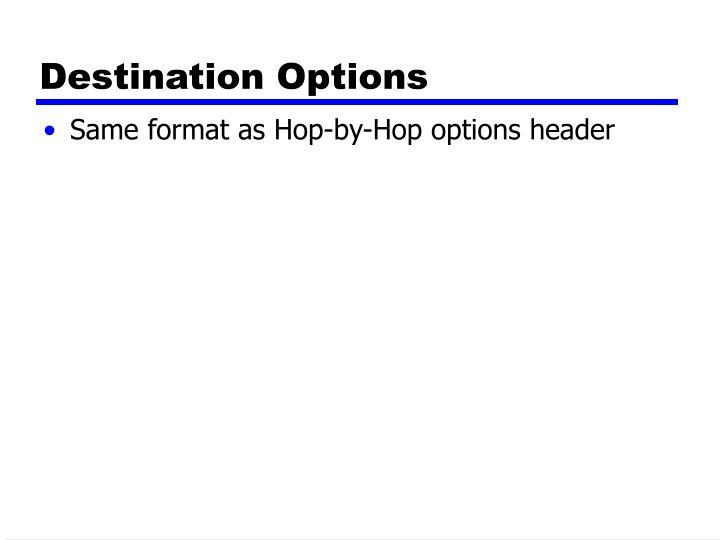 Destination Options