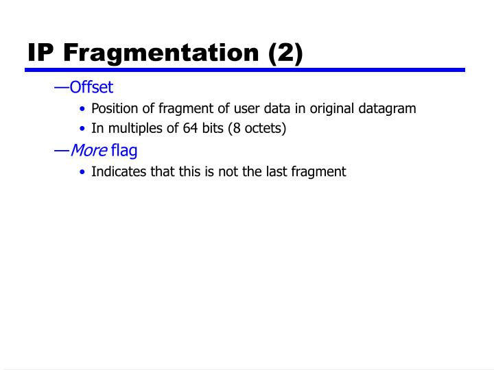 IP Fragmentation (2)