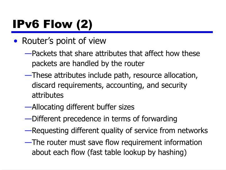 IPv6 Flow (2)
