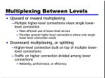 multiplexing between levels