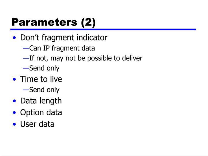 Parameters (2)
