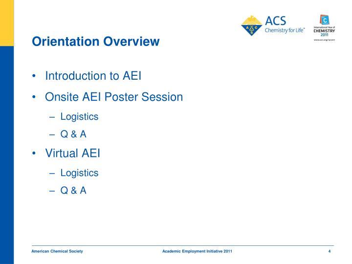 Orientation Overview
